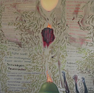 ZUGINSFELD 24 DMW 486.1.95 , 198 cm / 198 cm , Öl auf Leinwand in München 1995 gemalt