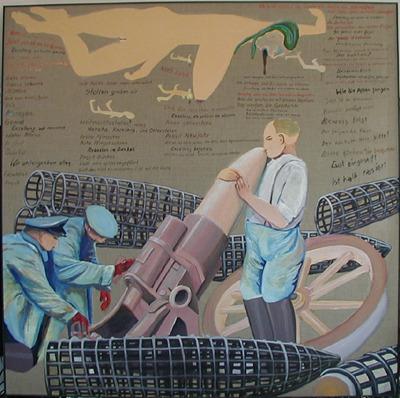 ZUGINSFELD 25 DMW 527.4.98, 198 cm / 198 cm, Öl auf Leinwand, in Dresden 1998 gemalt
