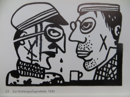Otto Nebel Grafik zu ZUGINSFELD