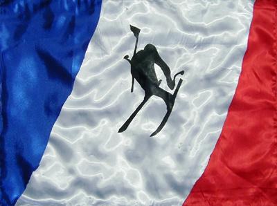 Frankreich / Alpinski DMW 587.x.2, Seiden-Applikation