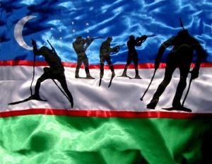 Usbekistan / Biathlon DMW 587.x.2, Seiden-Applikation