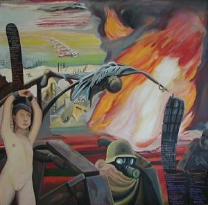 ZUGINSFELD 28 DMW 549.3.99 198 cm / 198 cm in Dresden gemalt