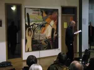 ZUGINSFELD-Deklamation von Lothar Lange im Goethe-Institut Dresden 2006