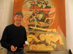 ZUGINSFELD 41 malt Dietmar Moews in Köln
