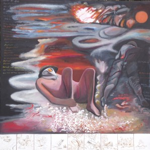 "ZUGINSFELD 34 ""Gaaas"", DMW 665.12.8. gemalt von Dietmar Moews 2012 in Berlin Öl auf Leinwand 190cm / 190cm"