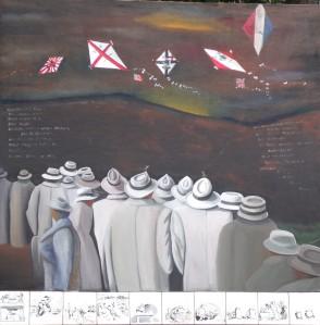 ZUGINSFELD 36 gemalt von Dietmar Moews in Berlin 2008 Öl auf Leinwand 190/190cm