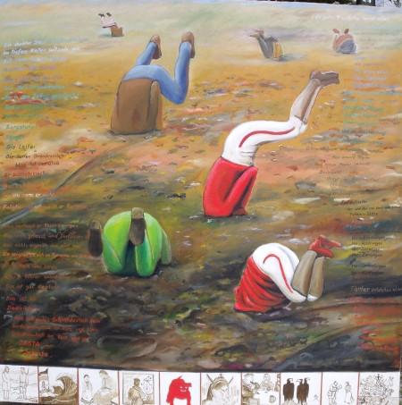 ZUGINSFELD 37 gemalt von Dietmar Moews Berlin 2010 Öl auf Leinwand 190/190cm
