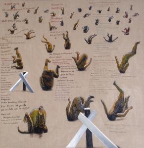 ZUGINSFELD 39 gemalt von Dietmar Moews Berlin 2011 Öl auf leinwand 190/190 cm