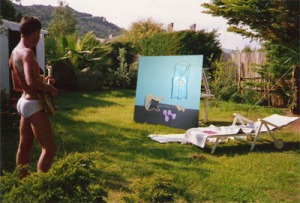 Dietmar Moews malt an der Costa Rei, Sardegna