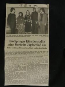 Trio-Konzert mit Quantztnauq von Berthold, mit  Julie, Anke-Maria, Robin, für Dietmar Moews im Jagdschloss Springe, am 13. 12. 1977