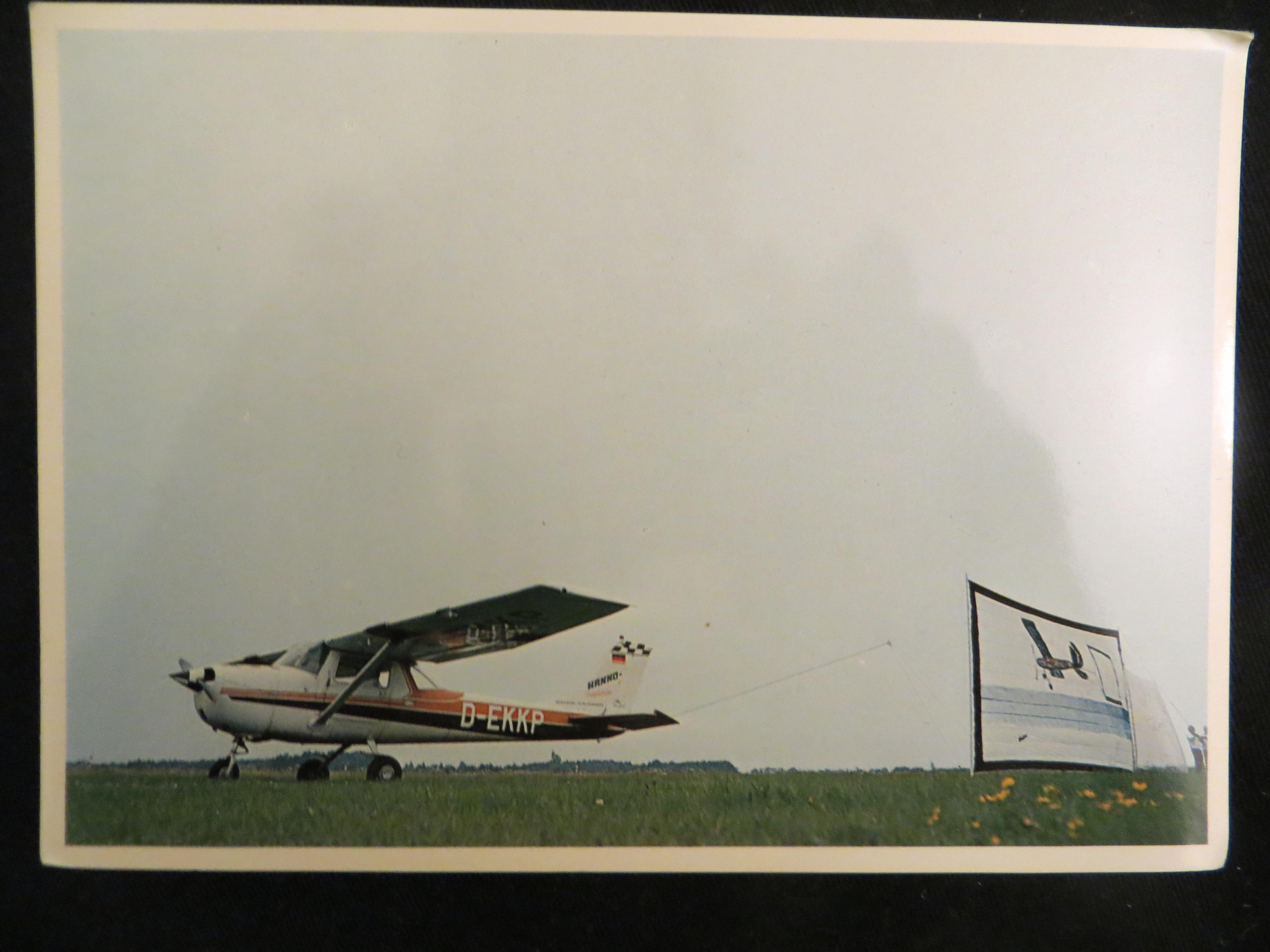 Dietmar Moews 1977 Sky Applique Flying-Flag-object 6/35 Meter Langenhagen / Kassel