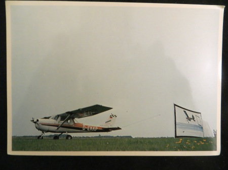 Dietmar Moews 1977 Sky Applique Flying-Flag-object 6/35 Meter Langenhagen / Kassel