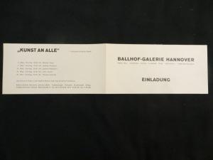 Einladungs-Klappkarte KUNST AN ALLE