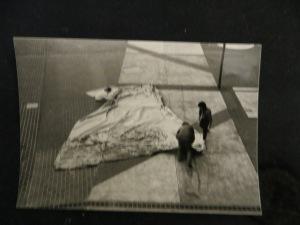 """""""Endsport"""" DMW 352.5.83, 900 / 600 cm, Öl auf Leinwand, Bühnenbild  für die Dortnunder Westfalenhalle 1983"""