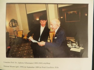 Prof. Dr. Alphons Silbermann held a reception to his 90th  day of births at the Excelsior Hotel Ernst Cologne near dome