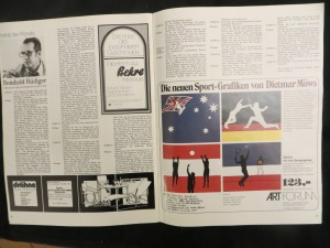 Art Forum Hannover, Dietmar Moews Sportgrafik im Siebdruck