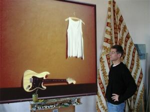 """Dietmar Moews """"Stilleben mit Stratocaster"""" DMW 235.35.79"""