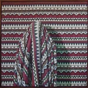 """DIETMAR MOEWS """"Mexikano"""" DMW 567.7.0,140 cm / 140 cm, Öl auf Textil, in Dresden im Jahr 2000 gemalt"""