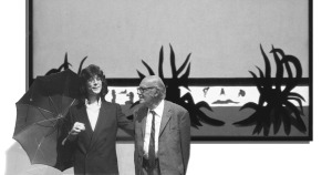"""DIETMAR MOEWS und PETER JANSSEN in der Stadthalle Hannover vor dem """"Agavenstrand"""""""