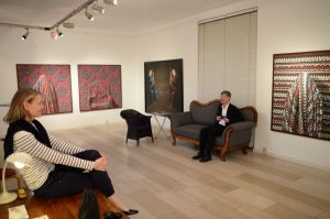 Dietmar Moews fotografiert den Fotografen am 6.Mai 2014 in der Galerie Smend