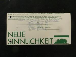 Faksimile des Abonnements von Walter König, Buchhändler Köln
