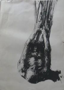 """ROLAND DÖRFLER Zeichnung """"Figur"""", 1975"""