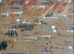 DIEMAR MOEWS DMW 433.11.89 73 cm / 100 cm, Öl auf Leinwand, 1989