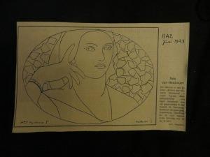 Zeichnung Mme Moitessier, nach Ingres