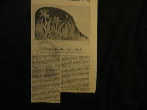 Dr. Rudolf Lange, Feuilletonleiter, Hannoversche Allgemeine Zeitung berichtet über EGON NEUBAUER in der Galerie M.