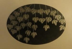 Wilder Wein. Blei auf Holz, 120 cm /175 cm, 1973, Verkaufspreis 4.000.-