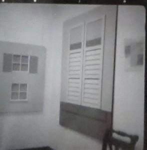 "STEFAN SCHWERDTFEGER, ""Fenster"", Acryl auf Leinwand, 1972"