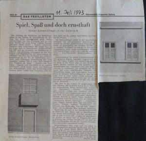 """Dr. Rudolf Lange: """"Spiel, Spaß und doch ernsthaft"""" in Hannoversche Allgemeine Zeitung"""