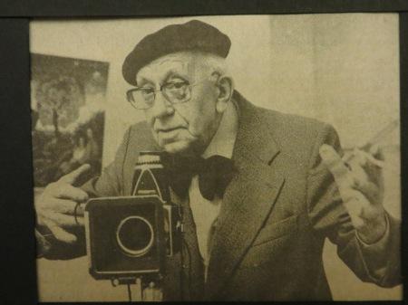 WILHELM HAUSCHILD in der GALERIE M, fotografiert von seiner Tochter VIOLA HAUSCHILD