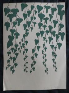 """GERHARD MERKIN """"Efeu"""", Siebdruck auf Tonkarton, 1974"""
