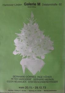 PLAKAT zu Weihnachten in der Galerie mit Siebdruckfrüchten von EGON NEUBAUER auf Spiegelblech als Baumschmuck zum Aussägen