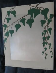 "GERHARD MERKIN ""Efeuspiegel"",Siebdruck auf Aluminiumblech, 1973"