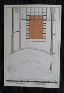 "INGE HÖHER ""Bett"" Lithographie, 1973"
