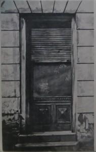 """MATTHIAS SCHLEDE """"Haustür"""" 1973 Aquarell/Gouche"""