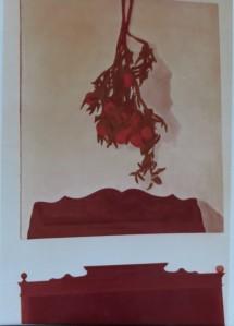 """GERHARD MERKIN Orangenzweige über Komode"""", Öl auf Leinwand, 1973 (über dem """"alten Möbel"""" in der Galerie M"""