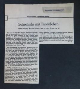 A.F.T. in der Hannoverschen Allgemeinen Zeitung am