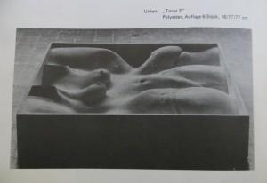 "PETER MARGGRAF ""Torso 2"",16 cm / 70cm / 70 cm, Polyester, 1972"