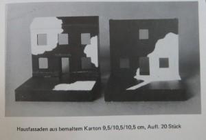 STEFAN SCHWERDTFEGER Bemalte Fassaden-Objekte 1973