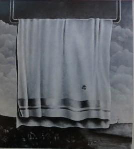 """JOBST TILMANN """"Landschaft"""" 80cm / 70 cm, öl auf Leinwand, 1972"""