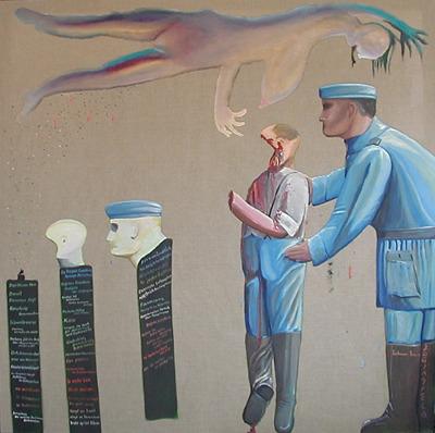 ZUGINSFELD 26 DMW 198 cm / 198 cm von DIETMAR MOEWS 1999 in Dresden gemalt