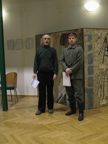 ZUGINSFELD Goethe-Institut LOTHAR LANGE, THOMAS WIPF proklamieren