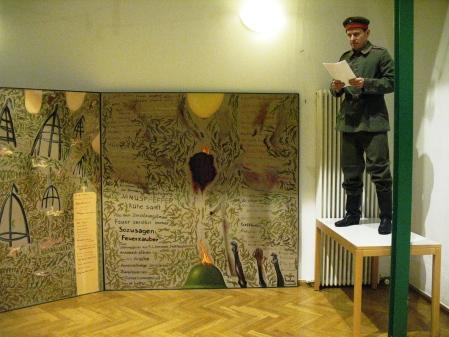 ZUGINSFELD 23 im Goethe-Institut Dresden 2008 mit Proklamation des Nebel-Gedichts von Thomas Wipf