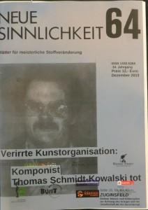 THOMAS SCMIDT-KOWALSKI 1949-2013
