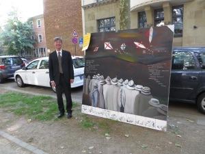 Friedensdemonstration DIETMAR MOEWS mit ZUGINSFELD