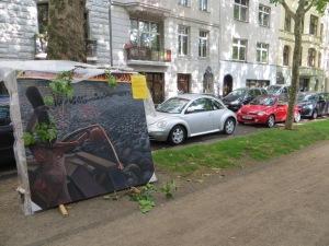 ZUGINSFELD mit Windbruch am Sonntag, 6. Juli 2014 in der Mainzer Straße (nördlich Eierplätzchen) Kölner Südstadt