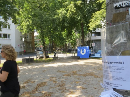 ZUGINSFELD auf dem Eierplätzchen Köln Südstadt am 19. Juli 2014